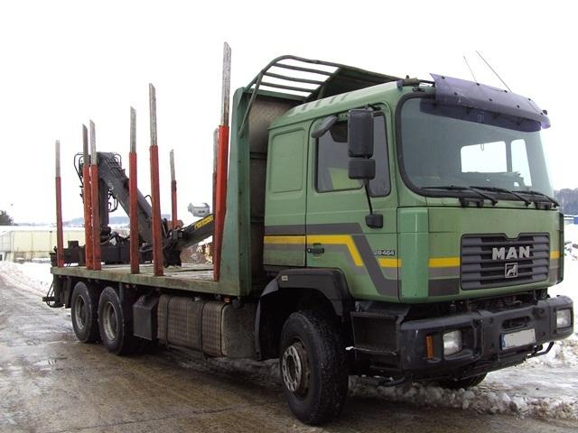 Camion Forestier cu Macara Forestiera MAN